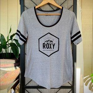 Roxy T-Shirt Grey and Black Large